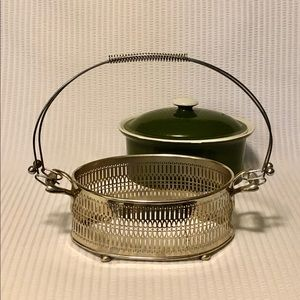 Vintage Dining - Vintage MCM Baking Dish with Serving Caddy